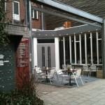 De ingang van het pleintje  op 't Fijnhout bedrijvencomplex (klik om te vergroten)